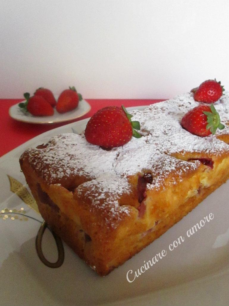 plum cake light alle fragole