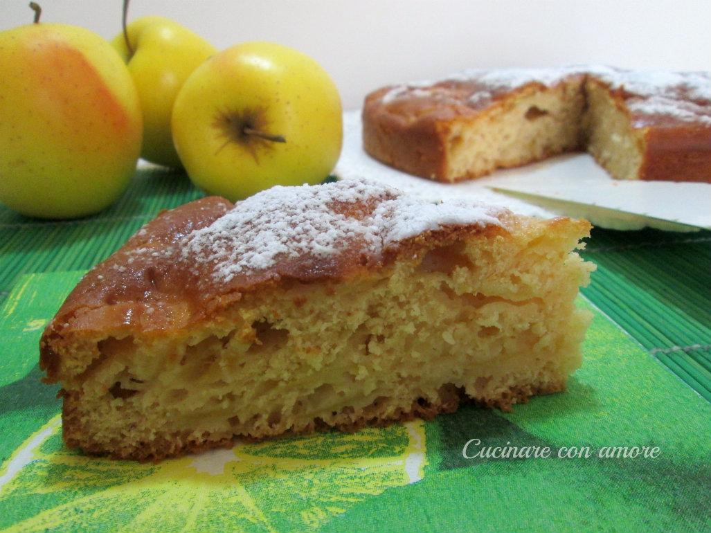 Torta di mele e yogurt senza burro e olio
