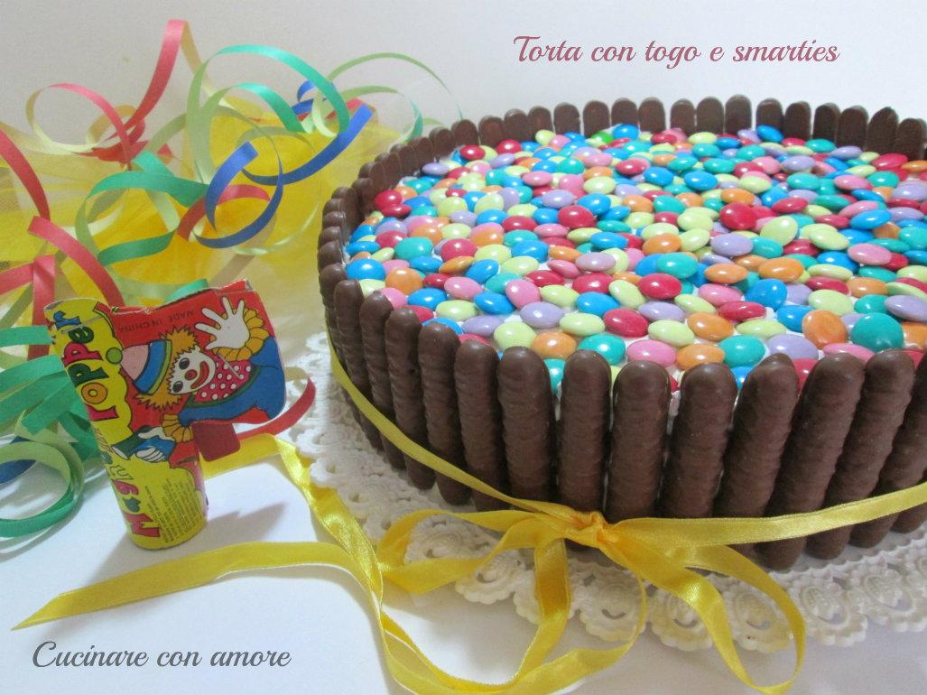 torta con togo e smarties