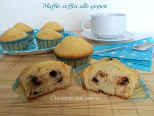 Muffin soffici allo yogurt