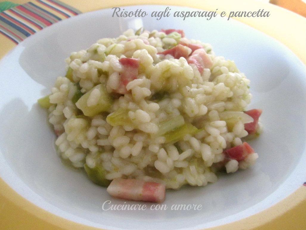 Risotto agli asparagi selvatici cucinare con amore for Cucinare risotto