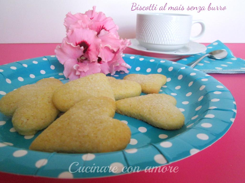 Biscotti al mais senza burro