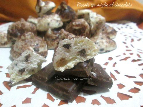Piccole spumiglie al cioccolato