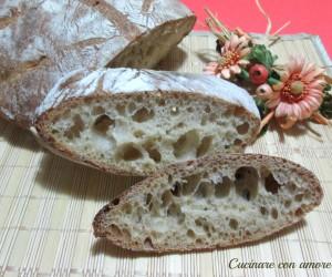 Pane con farina di farro bianca e farina 0