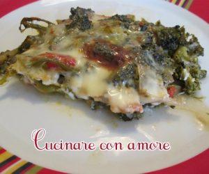 broccoli con sottiletta al forno