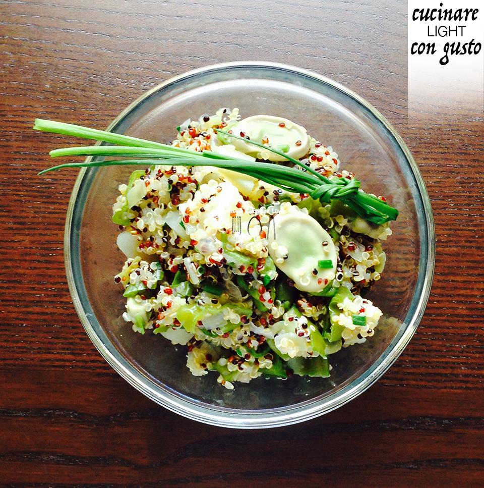 Quinoa mix con fave friggitelli porro e tabasco for Cucinare friggitelli
