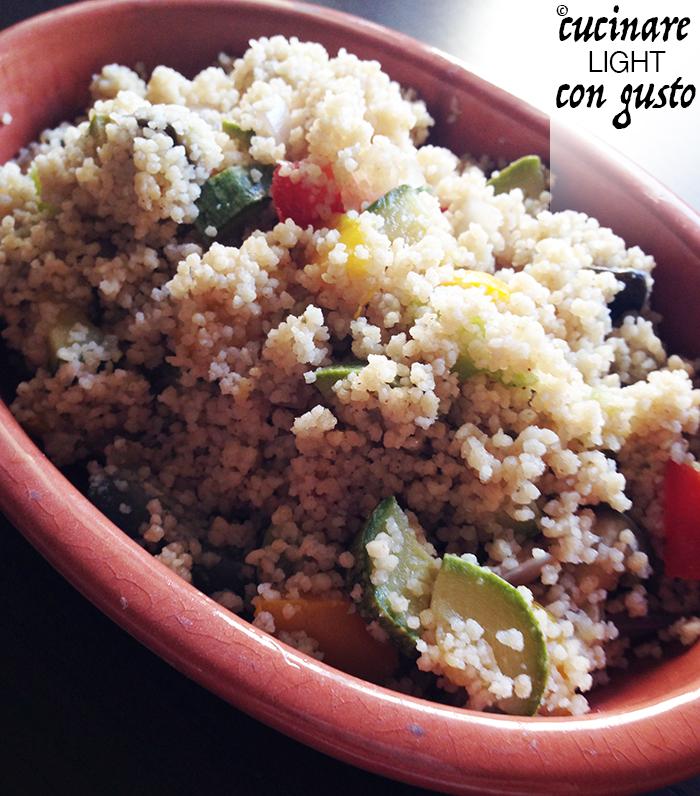 Cous cous integrale vegetariano cucinare light con gusto for Cucinare vegetariano