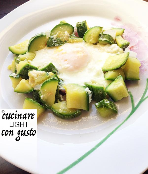 Uova con le zucchine cucinare light con gusto for Cucinare le zucchine