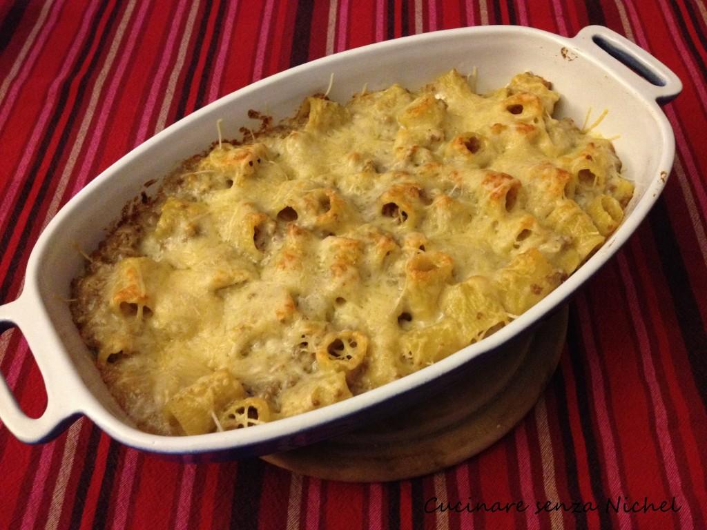 Pasta gratinata al forno nichel free cucinare senza nichel - Cucinare senza grassi ...