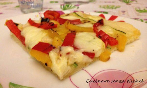 Pizza peperoni e zucchine nichel-free
