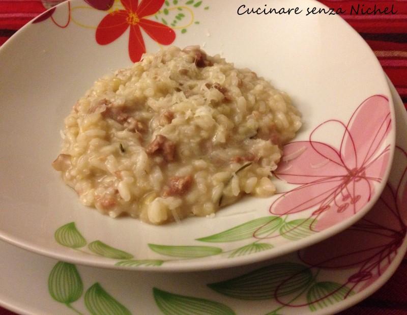 Risotto di castagne e salsiccia nichel free cucinare for Cucinare risotto