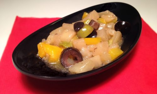 Caponata di melanzane e peperoni nichel-free