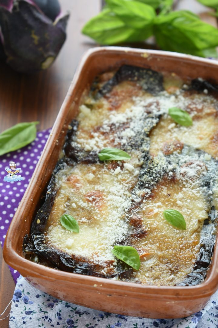 Parmigiana bianca di melanzane e mozzarella