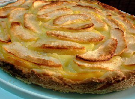 Crostata di mele con crema al limone