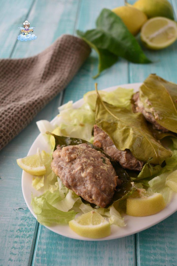 carne sulle foglie di  limone