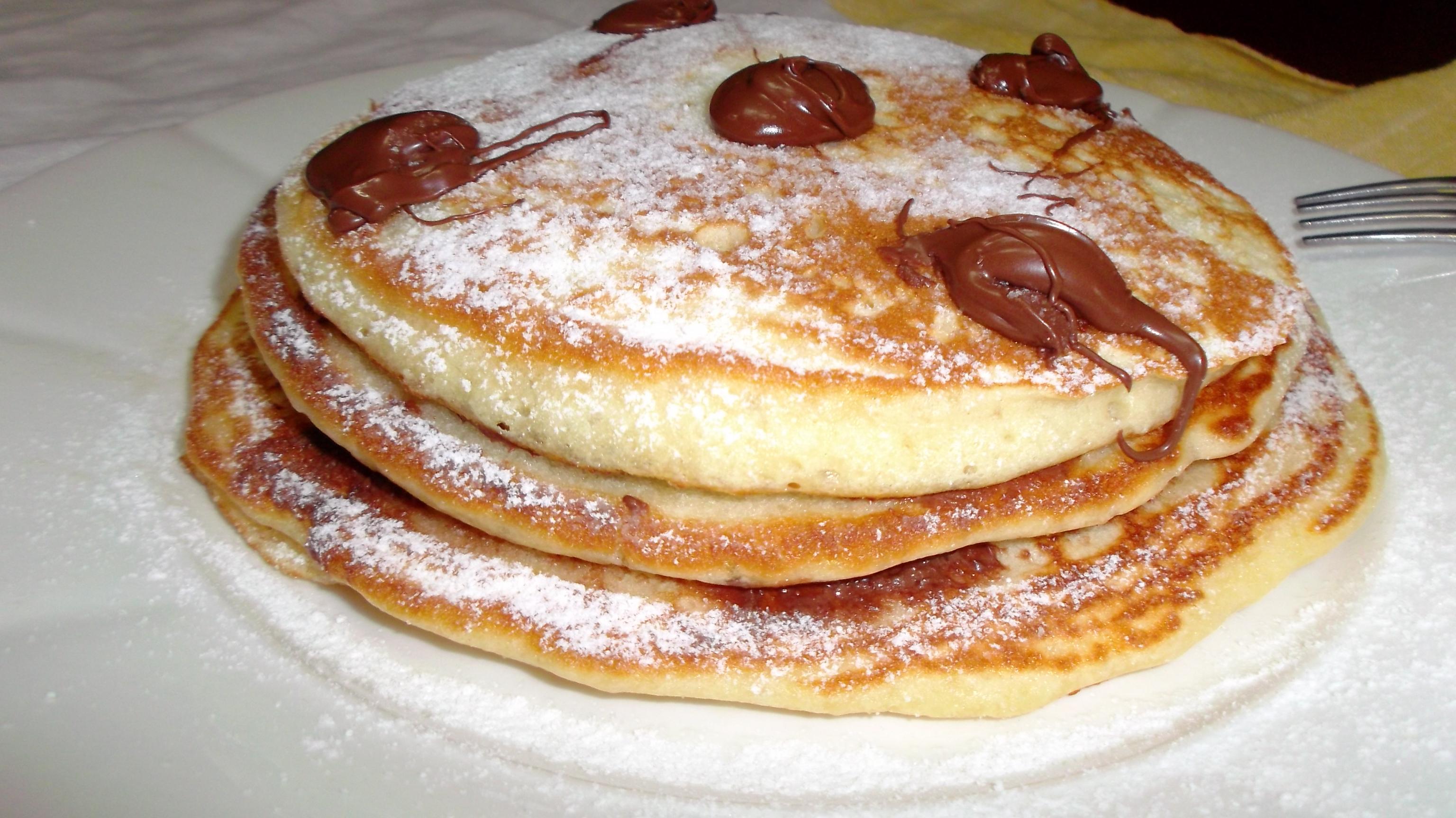 Torta pan-cake alla nutella