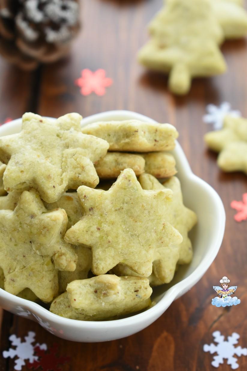 Biscotti salati al pistacchio