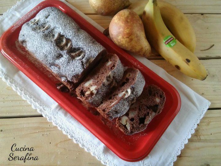 Plumcake pere, banane e cacao