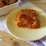 Timballo di riso al ragù catanese