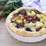 Torta salata con bieta rossa e patate