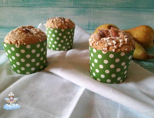 Muffin integrali con le pere