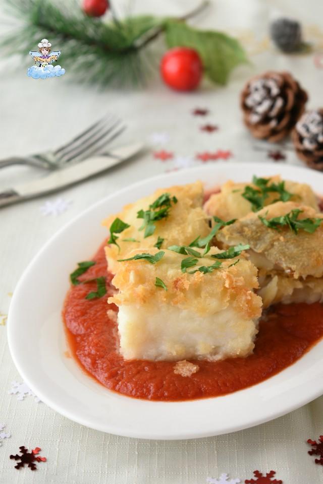 Baccalà fritto con passata di pomodoro-ricetta siciliana