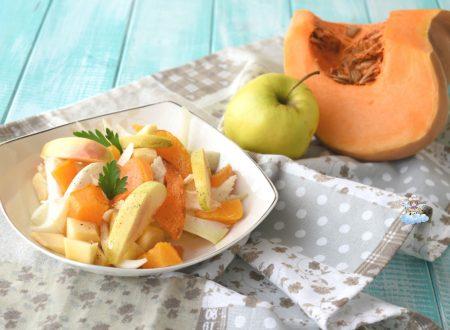 Insalata di finocchi, zucca e mele