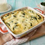 Girelle di pasta con ricotta e spinaci