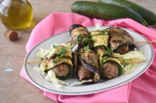 Involtini di carne con zucchine e melanzane
