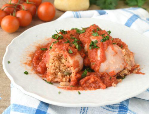 Calamari ripieni al pomodoro-ricetta siciliana
