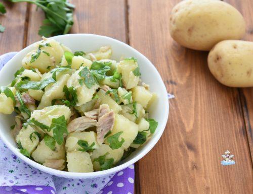 Insalata di patate rucola e sgombro