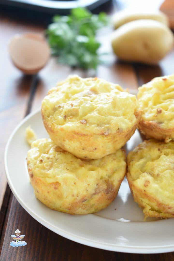 Muffin frittata con patate e tonno