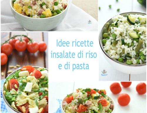 Idee ricette d'insalate di riso e pasta