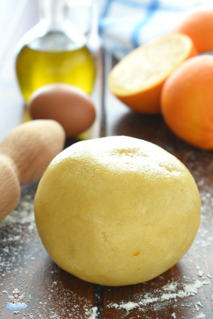 Pasta frolla arancia ed olio extra vergine d'oliva