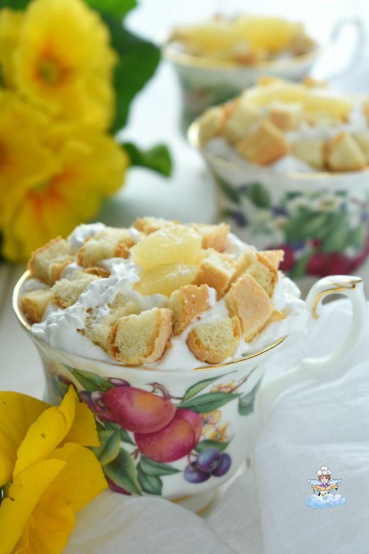 Torta mimosa in tazza