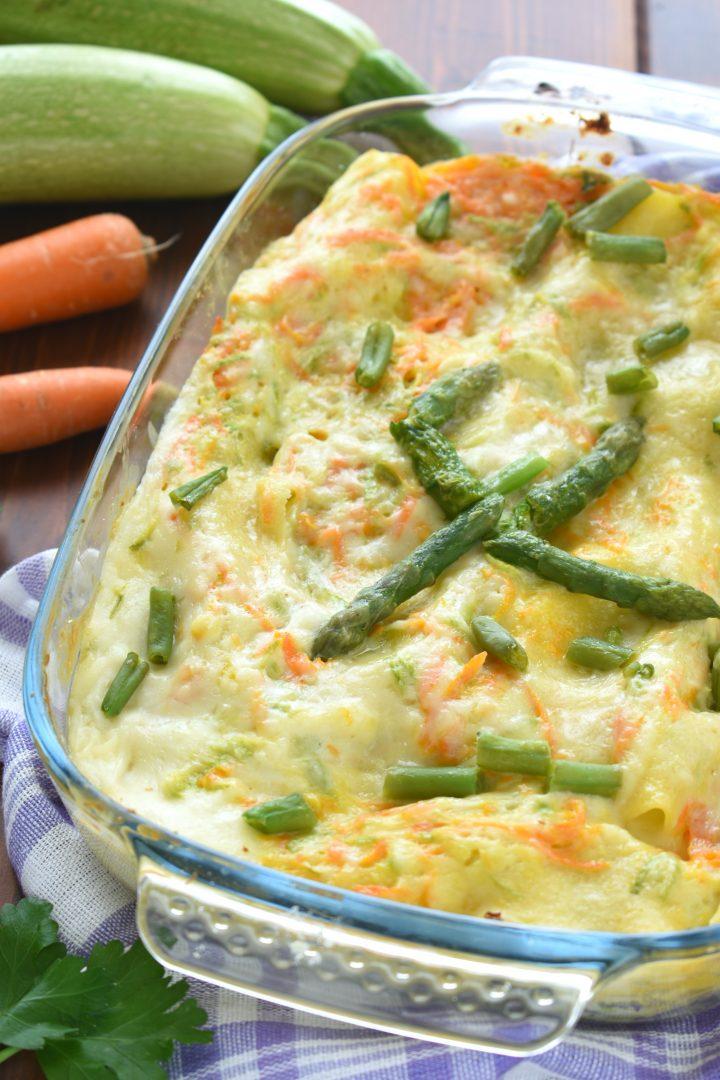 Lasagne alle verdure cremose e delicate