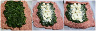 Polpettone di carne con spinaci al forno