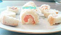 sushi con pane bianco. Un'antipasto semplice e veloce
