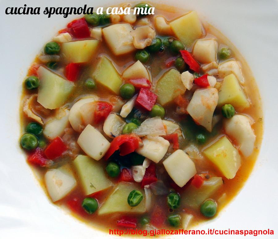 ZUPPA DI SEPPIE, VERDURE E PATATE   Ricette Cucina Spagnola A Casa Mia