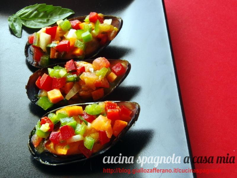 Cozze ripiene di verdure crude cucina spagnola a casa mia for Cucina spagnola