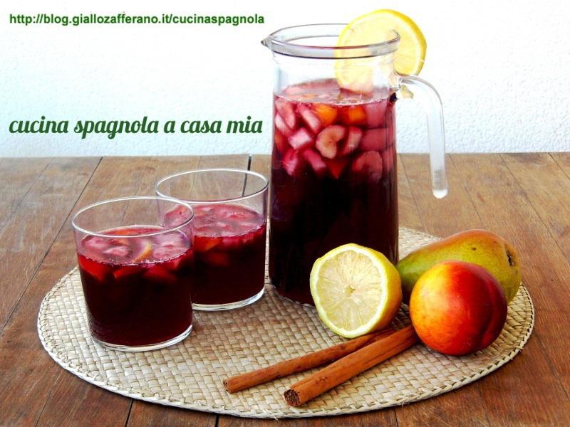 Ricetta Sangria Per 40 Persone.Sangria Ricetta Per L Estate Cucina Spagnola A Casa Mia