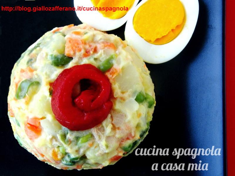 Insalata russa con tonno e uova sode cucina spagnola a for Cucina spagnola