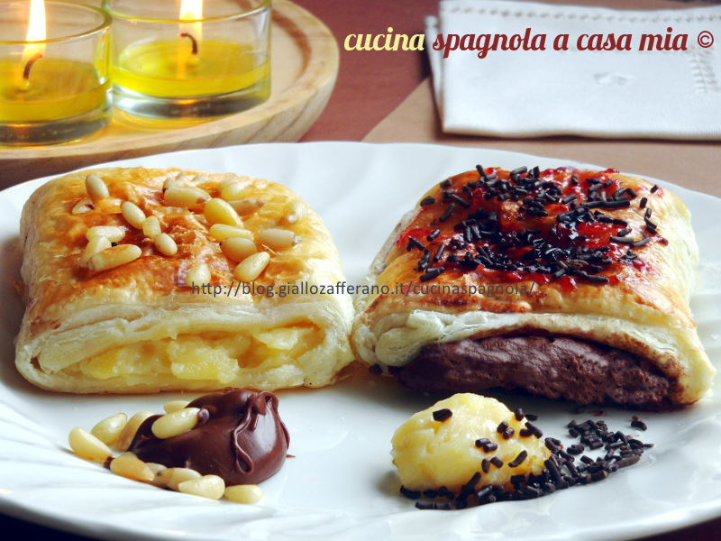 Napolitanas ricetta dolce crema e nutella cucina for Cucina spagnola