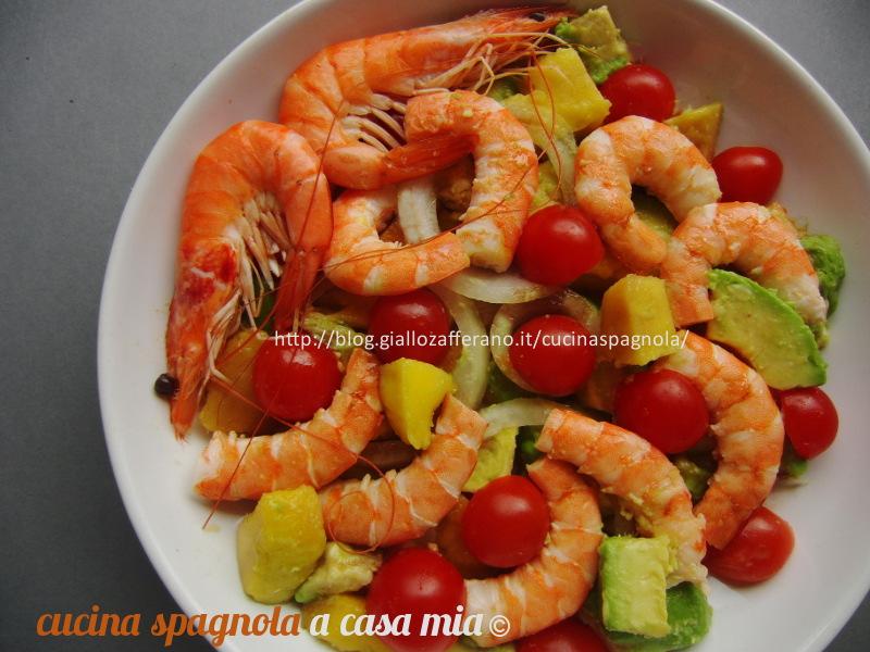 Insalata di gamberi avocado e mango cucina spagnola a for Cucina spagnola