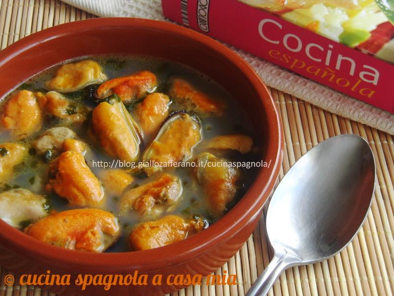 COZZE ALLA MARINARA ALLO STILE ASTURIANO. Ricetta Cucina Spagnola A Casa Mia