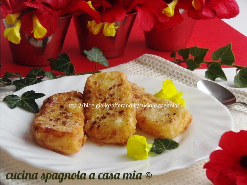 LATTE FRITTO ALLA CANNELLA. Ricetta dolce facile Cucina Spagnola A Casa Mia