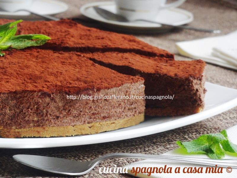 TORTA MOUSSE AL CIOCCOLATO. Ricette dolci Cucina Spagnola A Casa Mia 8ff2aa26e40