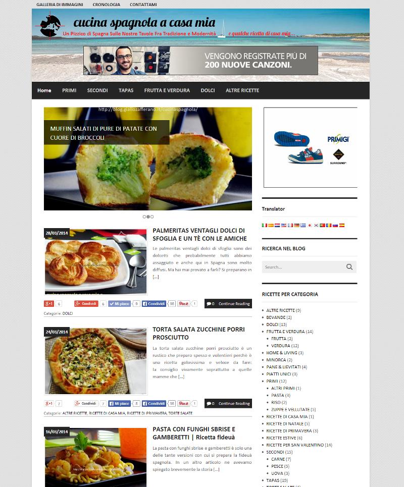 Cucina spagnola a casa mia blog di ricette di cucina for Idee di casa mia