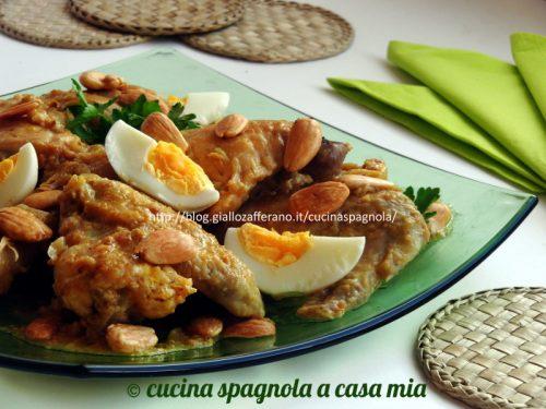 POLLO ALLE MANDORLE IN PEPITORIA, Ricetta tradizionale spagnola