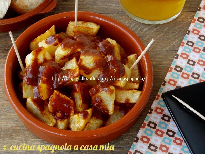 Patatas bravas, ricetta originale di Madrid (tapas)